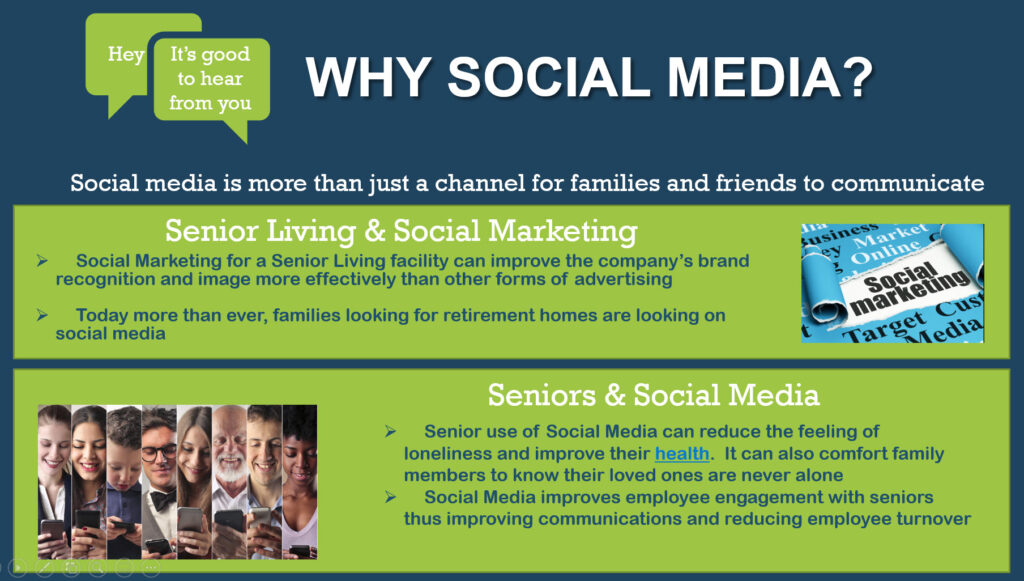 Why Social media for Senior Living Communities and facilities