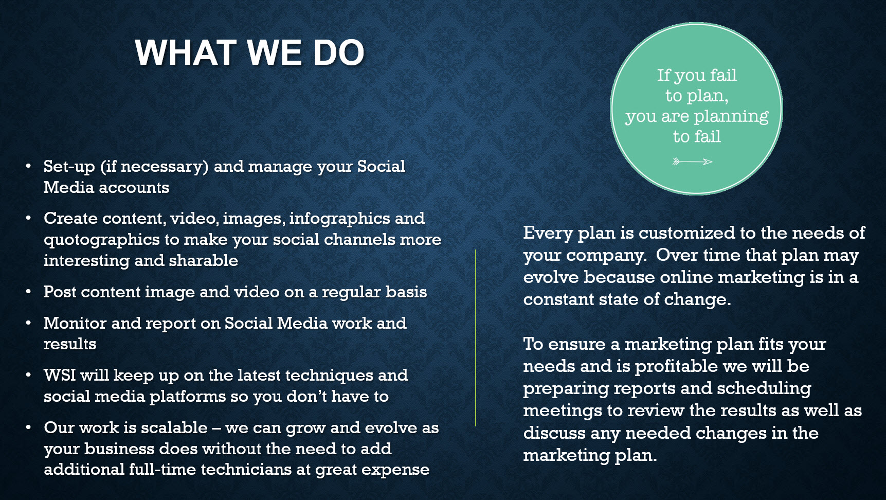 How WSI can help with social media